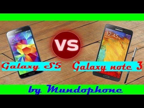 GALAXY S5 VS GALAXY NOTE 3  + DECISIÓN FINAL [COMPLETA COMPARATIVA] [MUNDOPHONE] [HD]