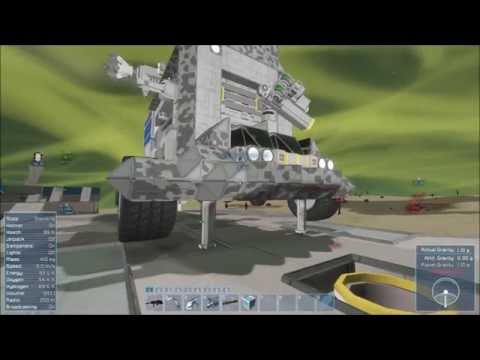 """Space Engineers: Alien Planet 8x8 Off Road Mining Truck  - Part 1 """"The Big Rig"""""""