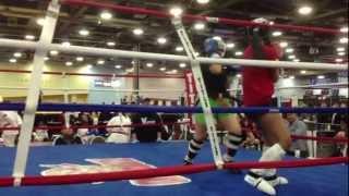 Hannah Basil Kickboxing at the Arnold