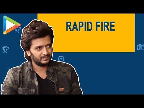 """Riteish Deshmukh: """"Shah Rukh Khan aapki energy kahan se aati hai""""   RAPID FIRE   Mauli"""