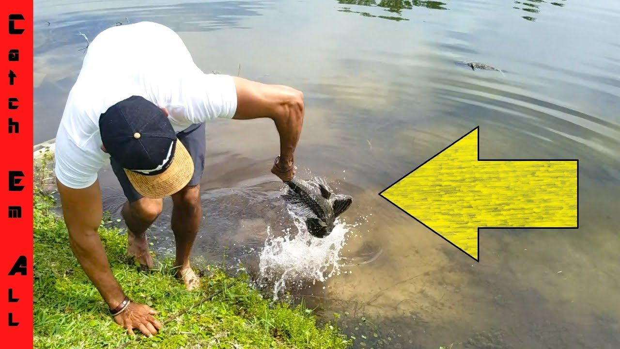 FISH MAKES PEOPLE PUKE when CAUGHT BY HAND! - YouTube