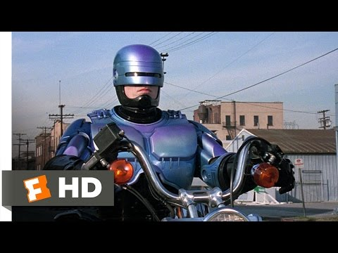 RoboCop 2 711 Movie   Motorcycle vs. Truck 1990 HD