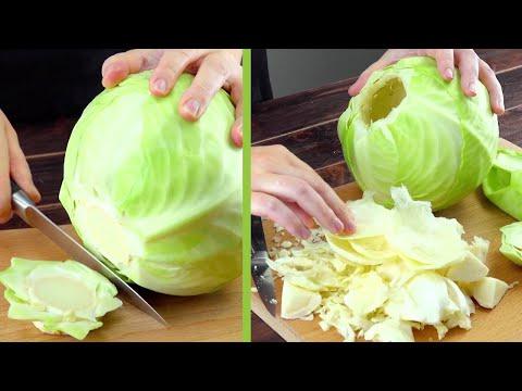 Не режем капусту, а наполняем ее начинкой. Красивый и очень вкусный ужин!
