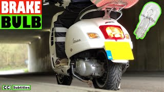 How to replace Brake Light Bulb on Vespa GTS