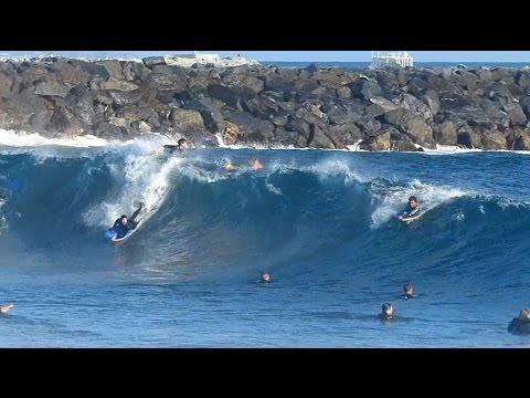 Newport Beach, CA, Wedge Surf, PM 8/14/2014 - (720p@120) - Part 1