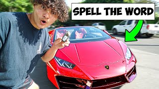 Spell The Word, Win Lamborghini
