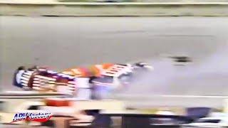 Tommy Ellis Big Crash 1987 7-Eleven 1st Twin 125