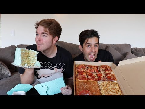 EATING OUR FEELINGS WITH SHANE DAWSON! MUKBANG! (PART 2)