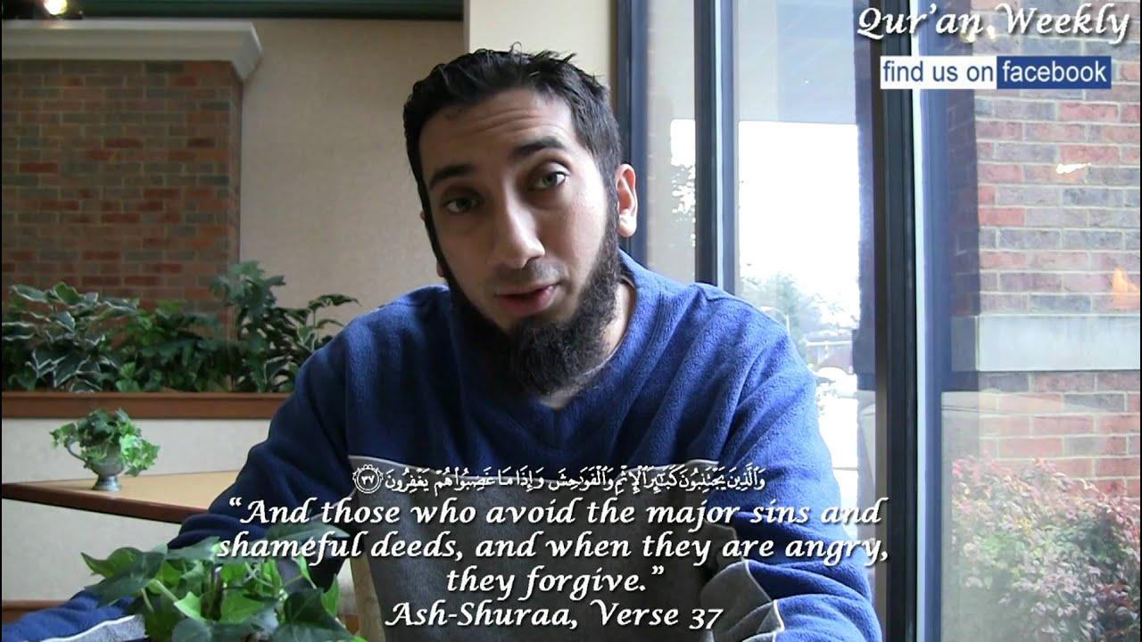 controlling anger nouman ali khan quran weekly youtube