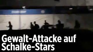 Irre Szenen: Hier flüchten Schalke-Stars vor den Chaoten!