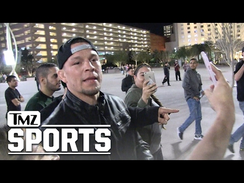 NATE DIAZ -- JOKINGLY CUSSES OUT KHABIB HECKLERS... Who Wants Some!? | TMZ Sports