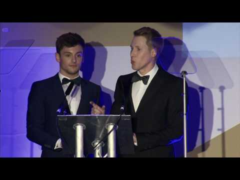Tom Daley and Dustin Lance Black' acceptance speech at the #BritishLGBTAwards