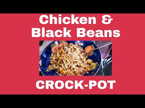 CrockPot Chicken With Black Beans And Cream Cheese
