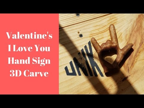 3d Cnc I Love You Hand Sign | OpenBuilds