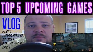 VLOG #2 | Fallout 4 | Star Wars Battlefront | Just Cause 3 | MGSV Phantom Pain | NBA 2K16