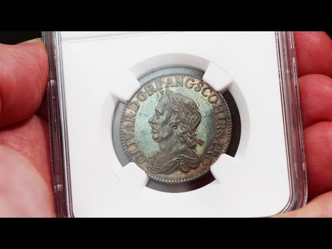 Coin Review: 1658 Oliver Cromwell Silver Shilling Top Grade MS63 Prooflike  The Coin Cabinet
