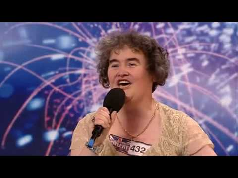Susan Boyle - Britains Got Talent Audition 2009  Best Picture Quality( With Lyrics )