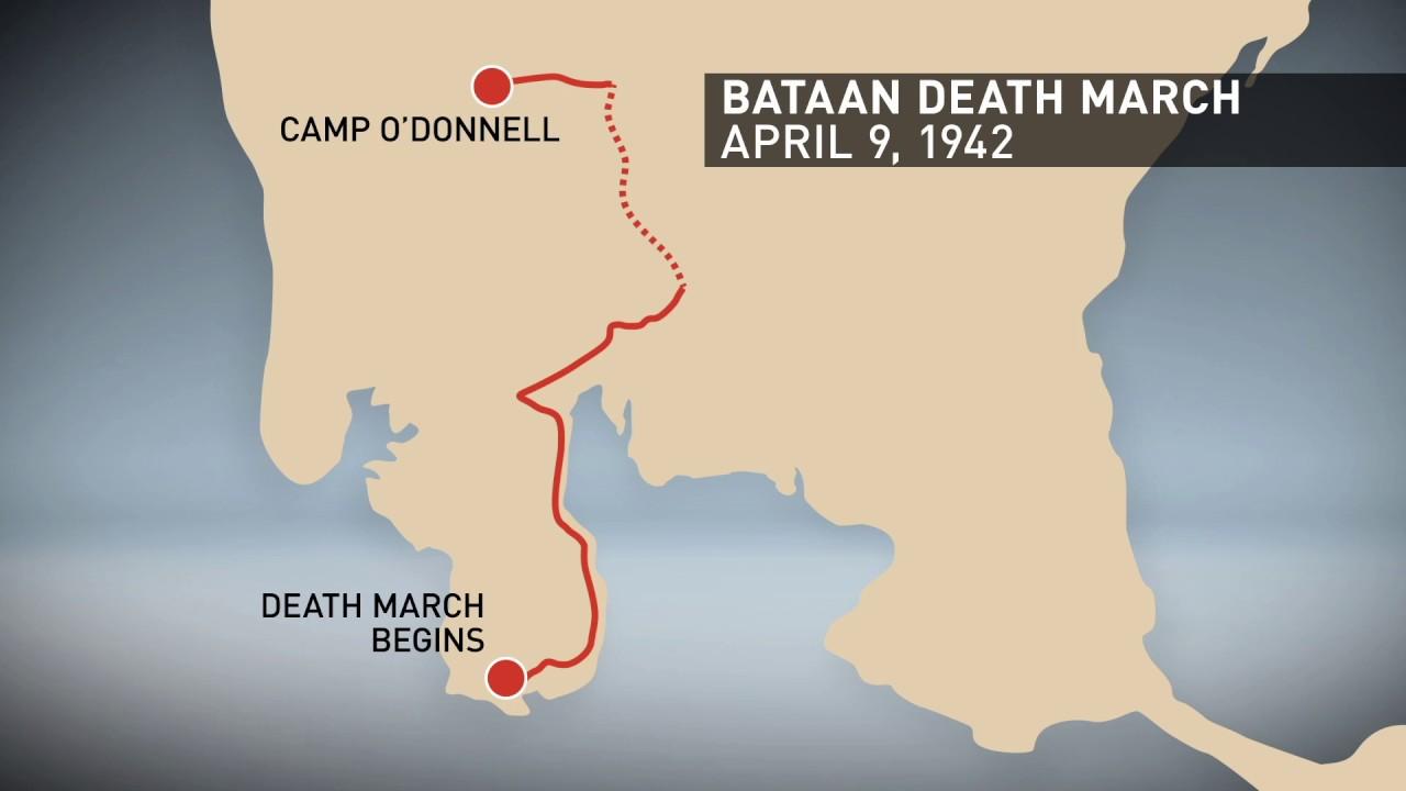 Bataan Death March Map Youtube
