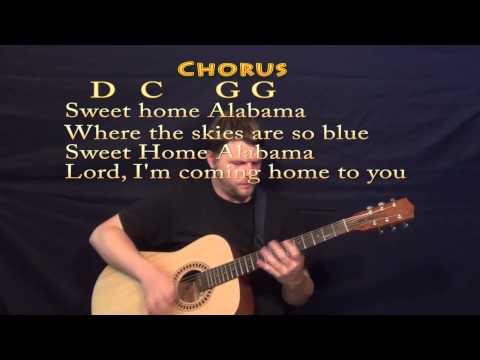 Sweet Home Alabama (Lynyrd Skynyrd) Strum Guitar Cover Lesson with Chords, Lyrics