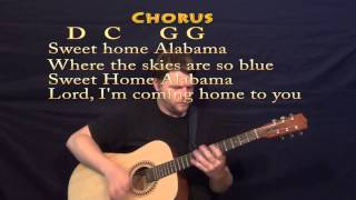 Sweet Home Alabama (Lynyrd Skynyrd) Strum Guitar Cover Lesson with Chords, Lyrics