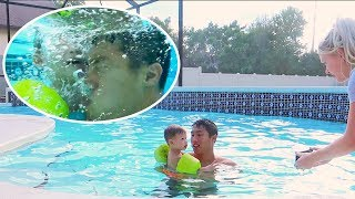 One Year Old Goes Swimming Under Water!