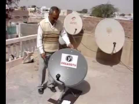 check your dish antenna with mirror