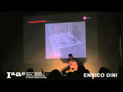 Enrico Dini - IaaC Lecture Series 2012-13
