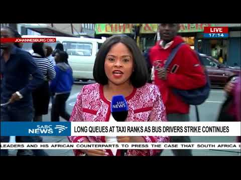 Commuters frustrated in JHB CBD as bus strike continues