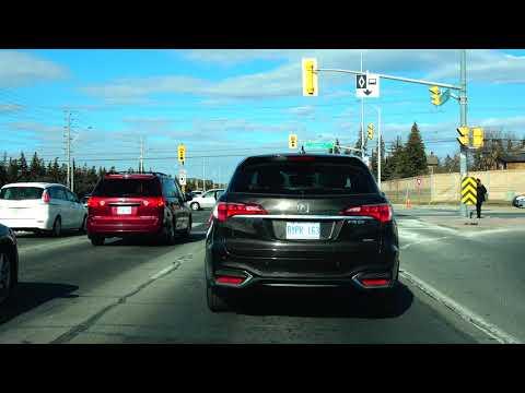 (4K) 2018 Beautiful March Driving from Brampton to Toronto Canada