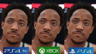 [4K/60FPS] NBA 2K18 - PS4 PRO vs PS4 vs Xbox One Graphics Comparison