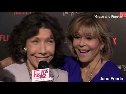 """Lily Tomlin and Jane Fonda  Interview about """"GRACE & FRANKIE"""""""