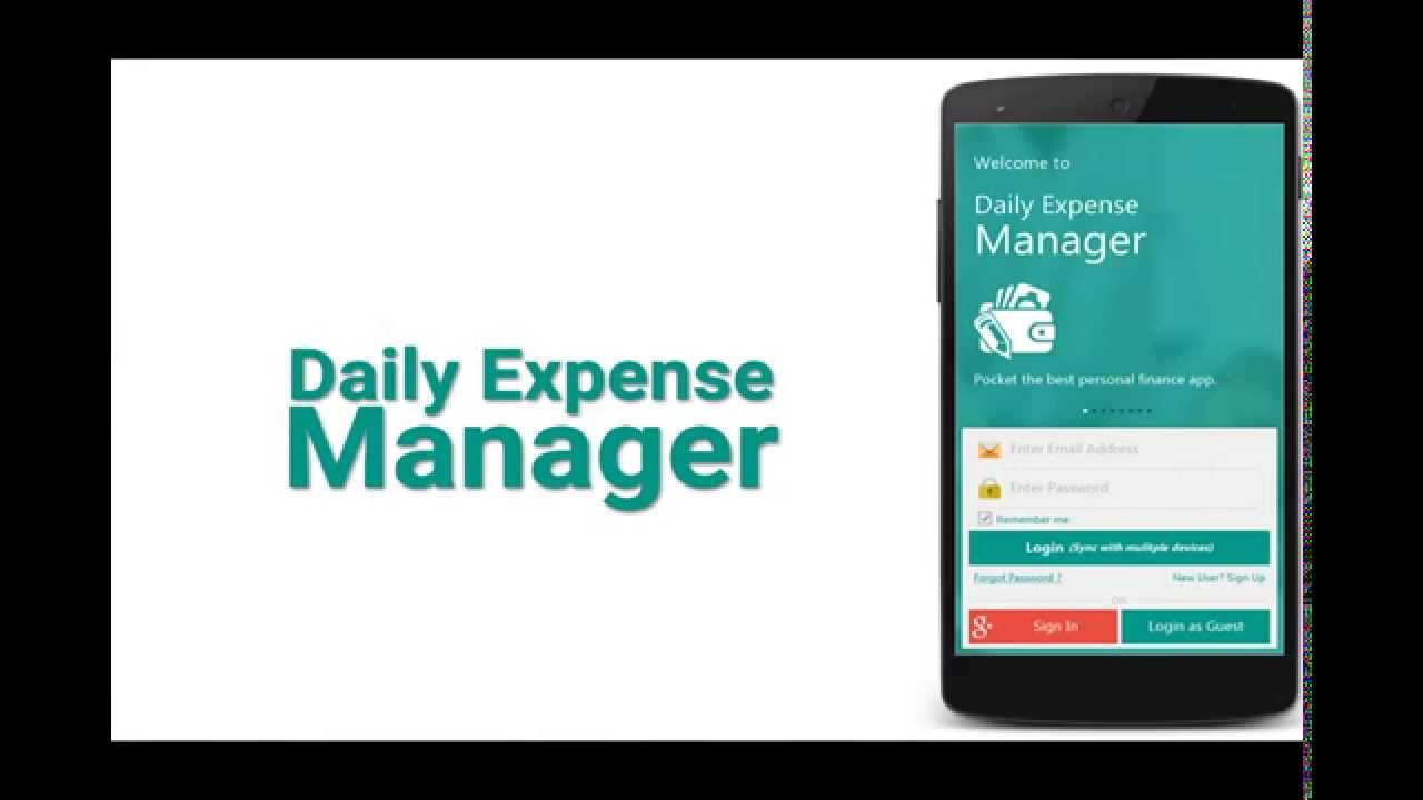 daily expense manager youtube
