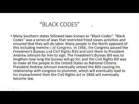 POWERPOINT PRESENTATION FOR U.S. HISTORY (RECONSTRUCTION ERA)