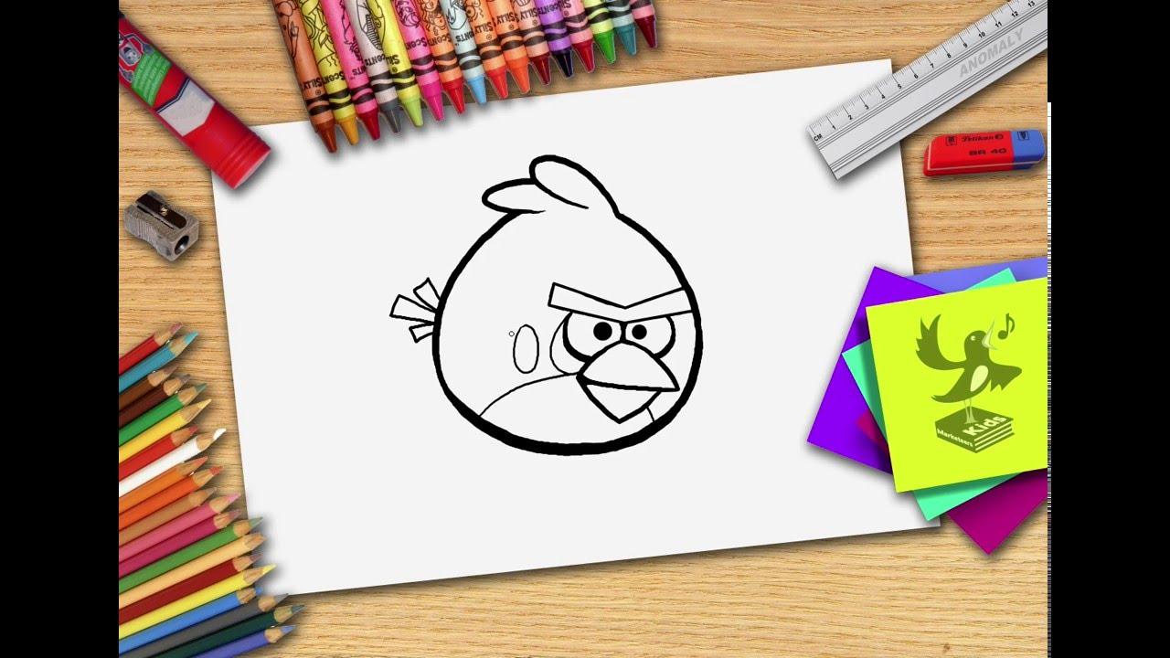 Hoe Teken Je Een Angry Bird Zelf Angry Birds Leren