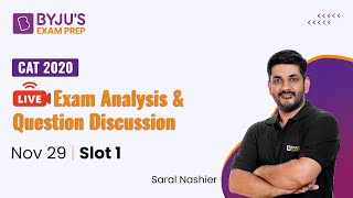 🔴CAT 2020 Slot 1 Analysis (10:45 AM) | Paper Pattern, Expected Cut-off, Difficulty Level Analysis