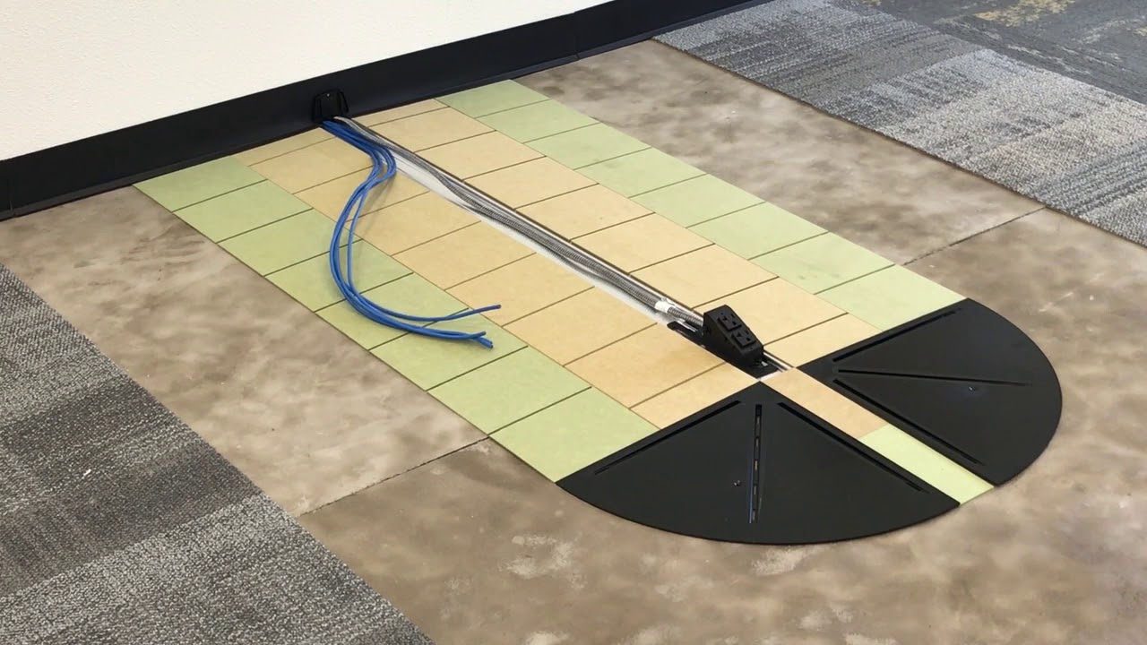 Connectrac 2.7 Under-carpet Wireway - YouTube