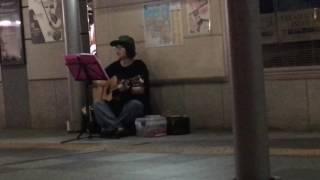 高松駅を通りかかったら路上ライブやってました!知り合いではないので...