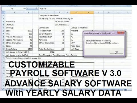 Advance Payroll Software Payroll Management system salary slip - payroll slip