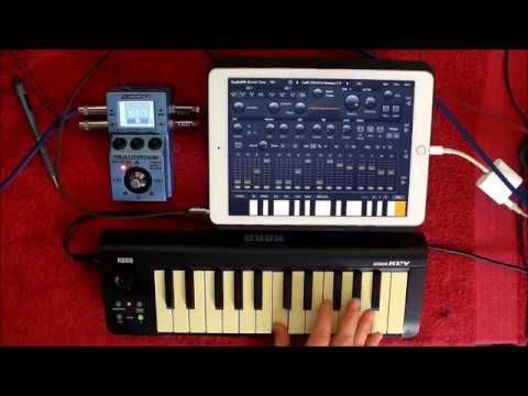 AudioKit Synth One & BS16i Processed by the ZOOM MS 70CDR - Epic for Ambent Soundscapes