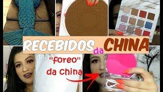 RECEBIDOS DA CHINA - LOJA DRESSLILY - ''FOREO'' DA CHINA, PALETA MUITO PIGMENTADA,ROUPAS...
