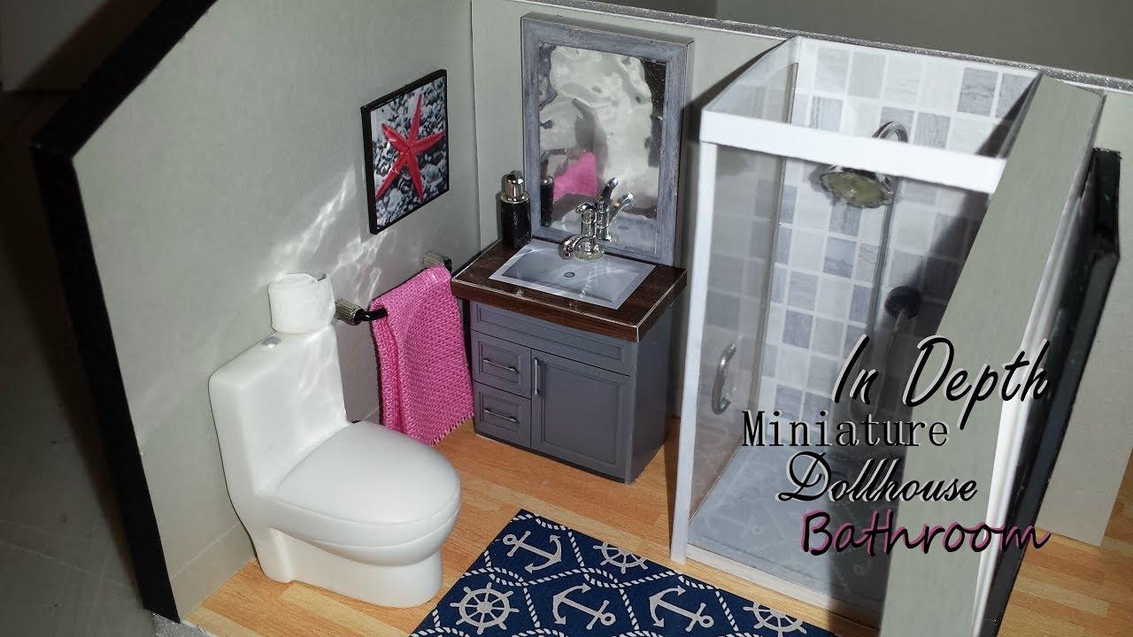 DIY Miniature In Depth Dollhouse Bathroom