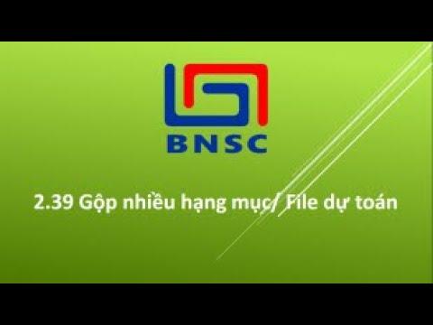 Hướng dẫn gộp nhiều File Hạng mục Dự toán - Dự toán BNSC