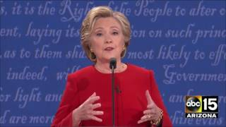 Clinton throws the FIRST PUNCH - 2016 Presidential Debate - Donald Trump vs. Hillary Clinton by : ABC15 Arizona