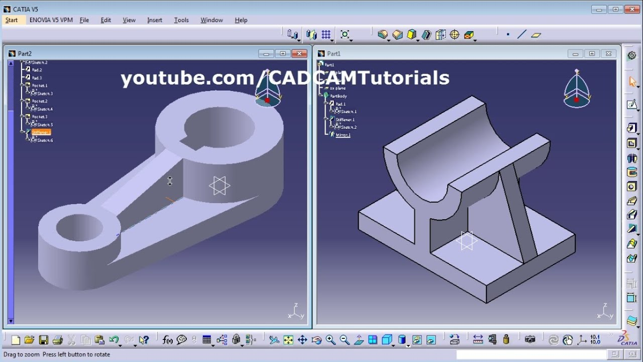 catia training course exercises for beginners 6 catia v5 exercises youtube. Black Bedroom Furniture Sets. Home Design Ideas