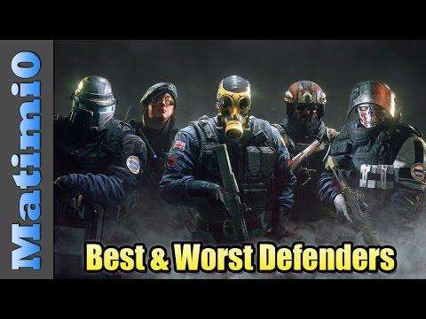 Best & Worst Defense Operators - Rainbow Six Siege
