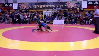 2015 Guelph Open: 57 kg Chris Waltner vs. Lenford Morris