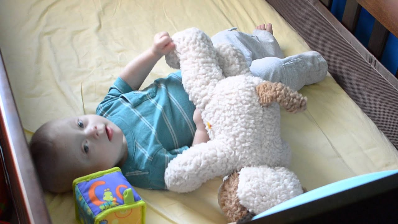 Cute Baby Born With Down Syndrome Talking And Playing In Crib