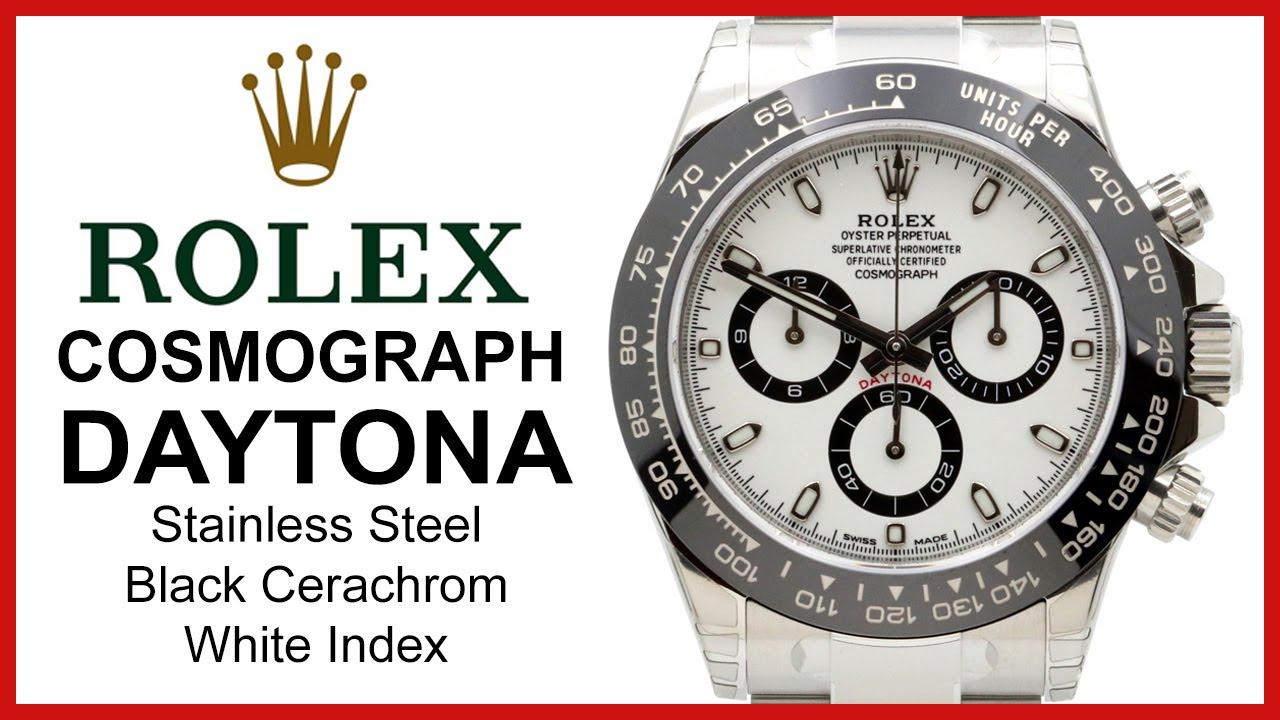 90a5c5dc66653 2016 Rolex Cosmograph Daytona, Black Cerachrom UNBOXING & REVIEW - Ceramic,  White, 116500LN