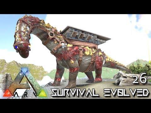 ARK: SURVIVAL EVOLVED - EPIC ZOMBIE TITANOSAUR MONSTER !!! E26 (MODDED ARK PUGNACIA DINOS)