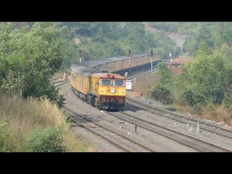 High Speed 22119 GOA Tejas Superfast Express Crossing Nivasar Station : Konkan Railways